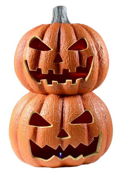 Abóbora Dupla Decorativa Halloween com luz