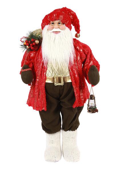 Boneco Papai Noel Luxo em Pé 95cm