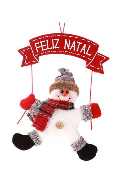 Mini Guirlanda Boneco de Neve Feliz Natal