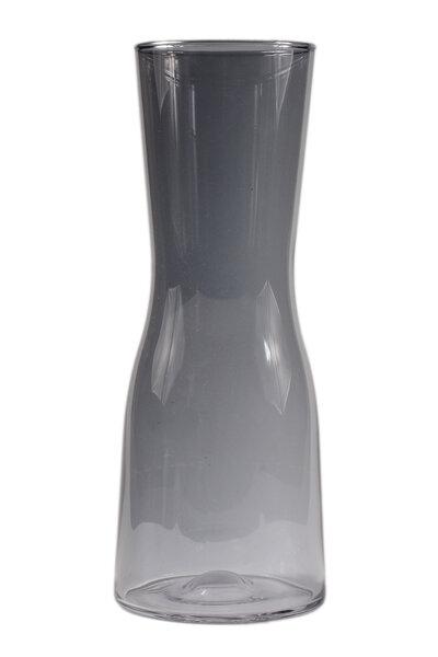 Vaso de Vidro Preto Transparente Grande