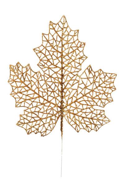 Folha Maple com Glitter