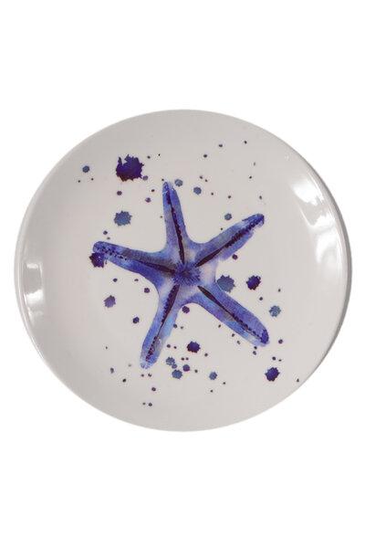 Prato de Cerâmica Decorativo Estrela do Mar