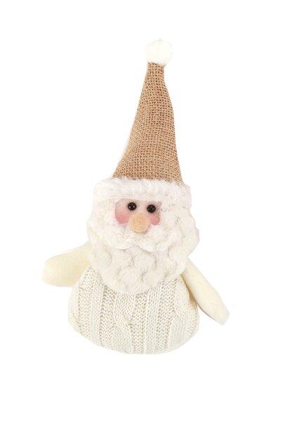 Enfeite para Árvore Papai Noel Branco e Bege