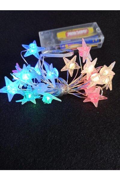 Fio de Fada Estrela com Glitter Luz Colorida