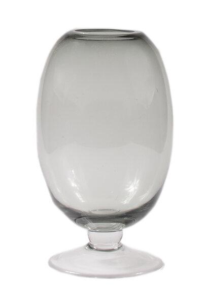 Vaso de Vidro Transparente Preto Degradê Pequeno