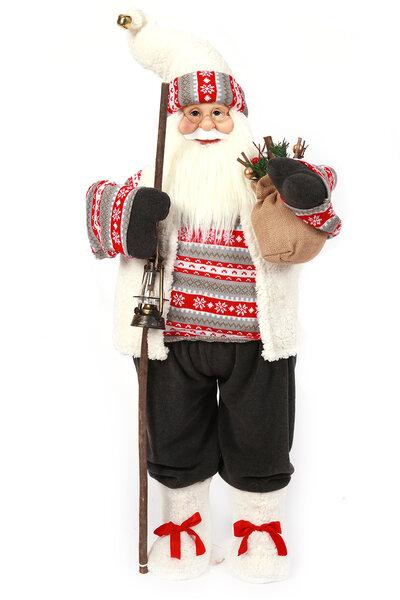 Boneco Papai Noel Luxo em Pé - 95cm