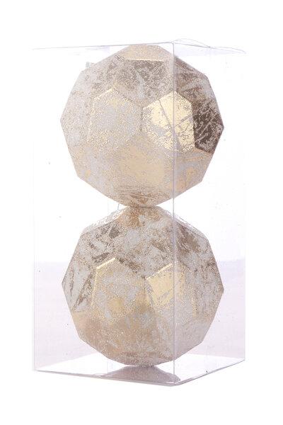 Bola Natalina Luxo Hexagonal c/ Glitter