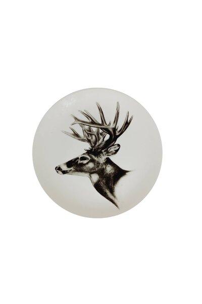 Prato de Cerâmica Decorativo Alce
