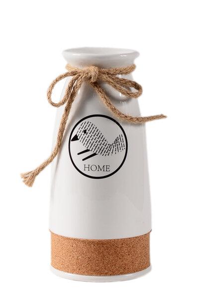 Vaso Cerâmica Branca Pequeno