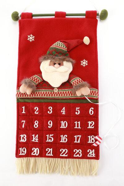 Calendário Papai Noel com Franjas