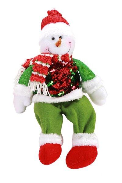 Boneco de Neve c/ Roupa de Lantejoulas Sentado