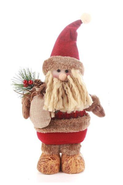 Boneco Papai Noel c/ Saco de Presente na Mão