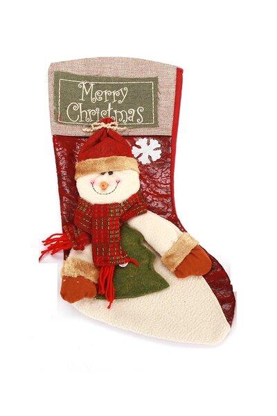 Bota Boneco de Neve c/ Árvore na Mão 44cm