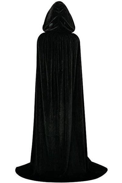 Capa Halloween Preto com Capuz