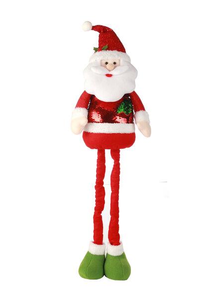Boneco Papai Noel c/ Roupa de Lantejoulas Extensível