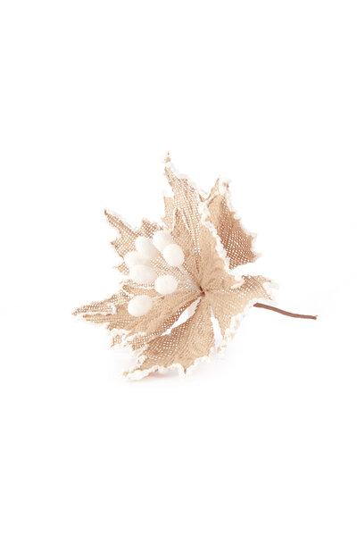 Flor Luxo Poinsettia Rústica de Junta c/ Acabamento