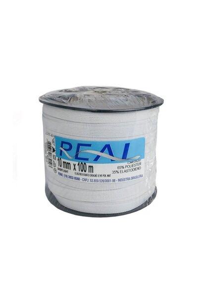 Elástico Chato Real Poliéster 10MM 100M