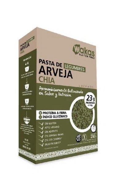 Macarrão de ervilha e chia wakas *23g proteína - 250g