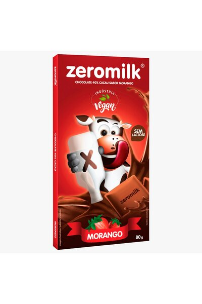 Chocolate zeromilk 40% cacau morango - 80g
