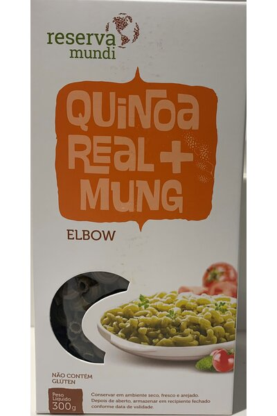 Macarrão elbow - quinoa e mung - reserva mundi - 300g
