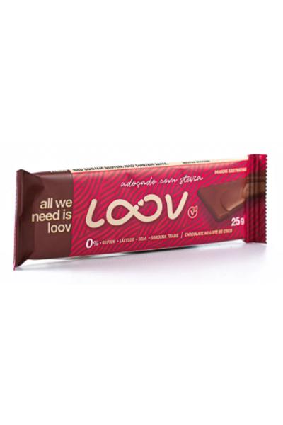 Chocolate loov ao leite de coco - adoçado com stevia - 25g