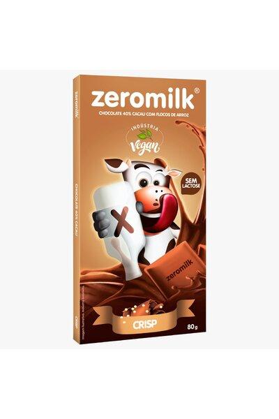 Chocolate zeromilk 40% cacau - crisp 80g