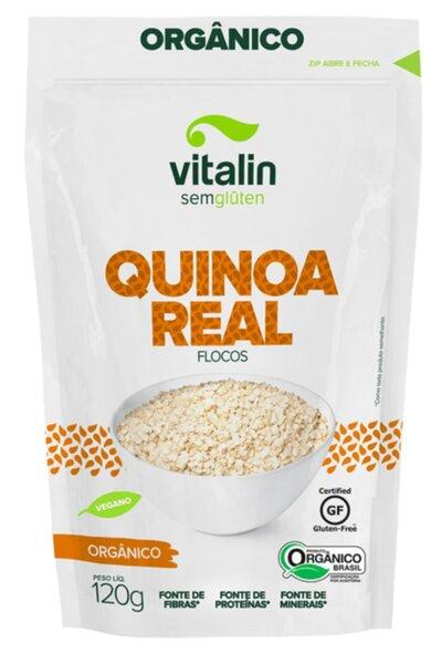 Quinoa real flocos orgânico - 120g