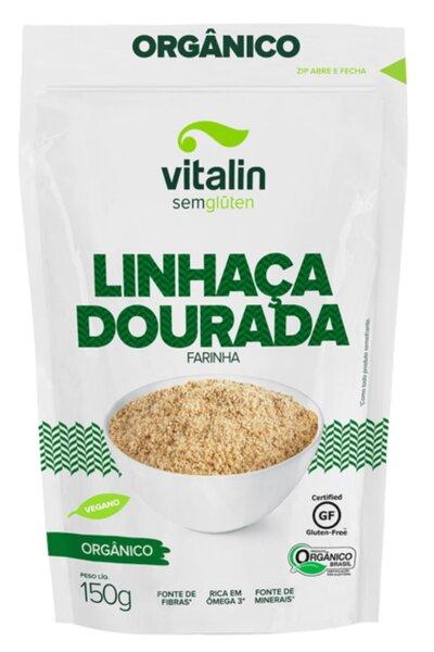 Linhaça dourada farinha orgânica vitalin - 150g - Venc 09/10/2021