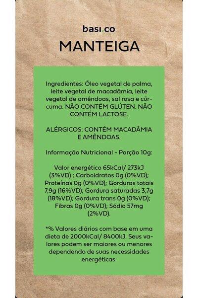 Manteiga vegetal basico - 125g