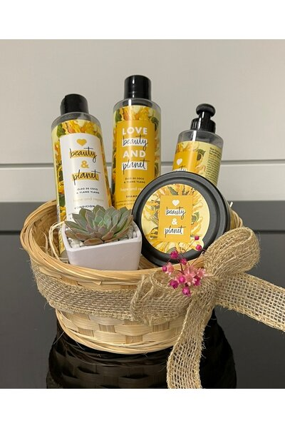 Kit cesta love beauty - óleo de coco e ylang ylang (shampoo, condicionador, máscara e creme pentear