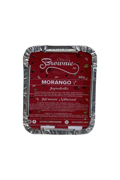 Browne Artesanal Morango Chico Brownie -60g