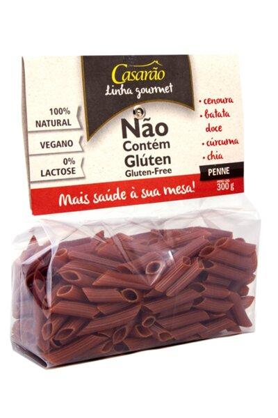Macarrão penne casarão - cenoura, batata doce, chia e curcuma - 300g