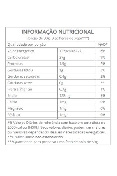 Mistura para bolo aveia, linhaça e coco integral vitalin - 300g