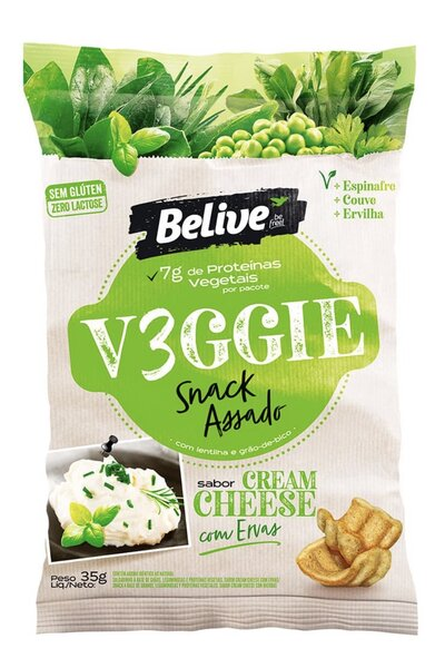 Snack V3GGIE Cream Cheese Belive *7g proteina - 35g