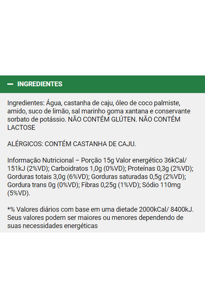 Catupiry vegetal basico - 300g
