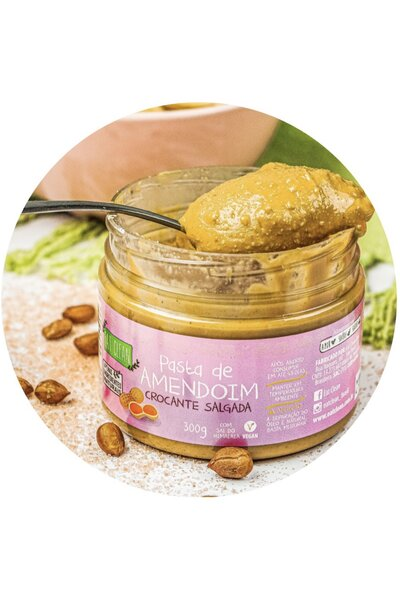 Pasta de amendoim crocante salgada eat clean 300g