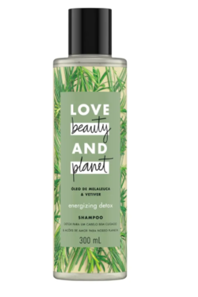 Shampoo óleo de melaleuca & vetiver beauty and planet - 300ml Detox cabelos oleosos