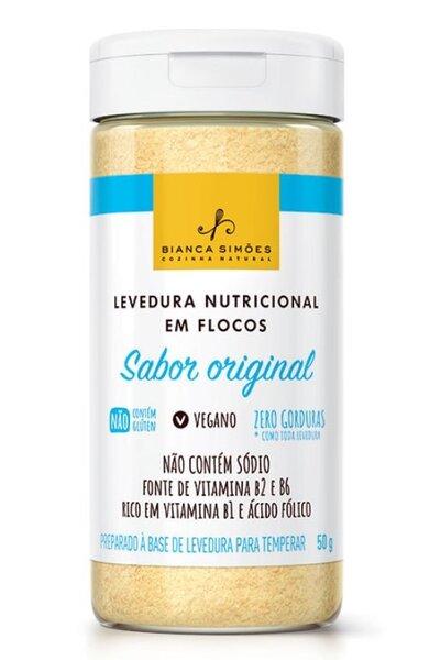 Levedura nutricional em flocos - sabor original - bianca simoes - 50g