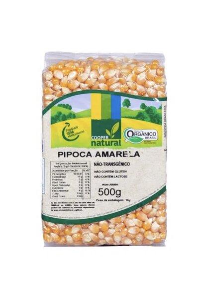 Milho de pipoca amarela orgânica Coopernatural - 500g