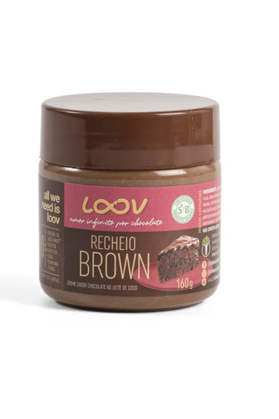 Creme de chocolate recheio brown - loov 160g