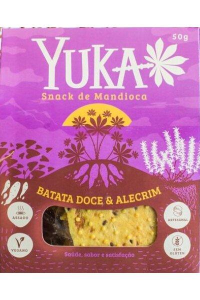 Snack de mandioca com batata doce e alecrim yuka 50g