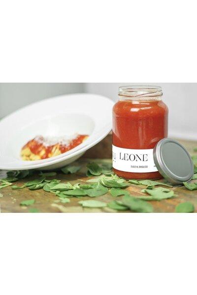 Molho de tomate Artesanal com manjericão Leone - 550g