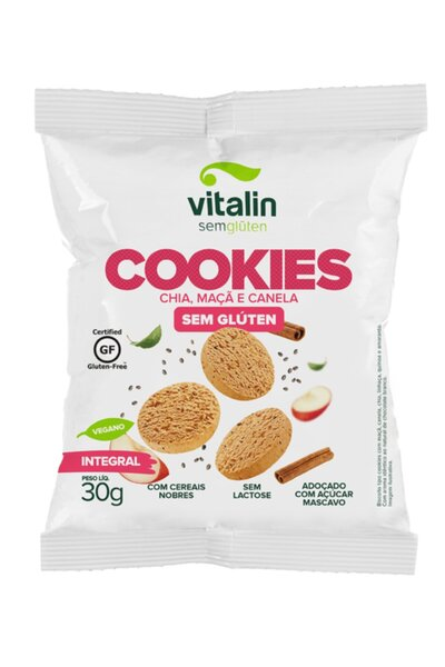 Cookies chia c/ maça e canela Vitalin - 30g