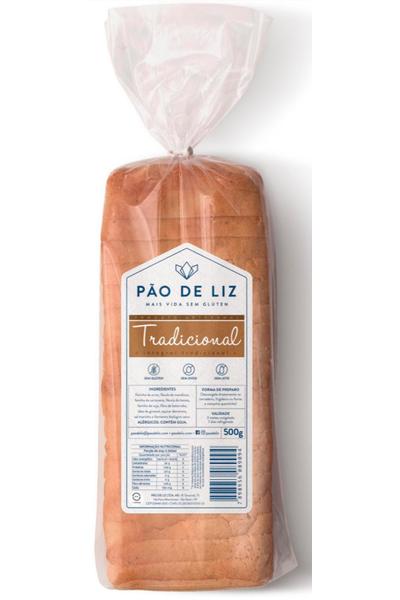 Pão sem glúten tradicional - pão de liz - 500g
