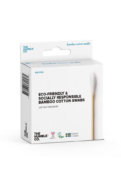 Cotonete sustentável Haste flexível de algodão natural The Humble - 100 unid.