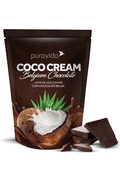 Leite de coco em pó com chocolate belga - coco cream belgium chocolate puravida - 250g