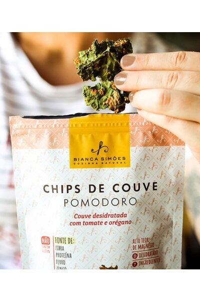 Chips de couve pomodoro - Bianca Simões - 20g