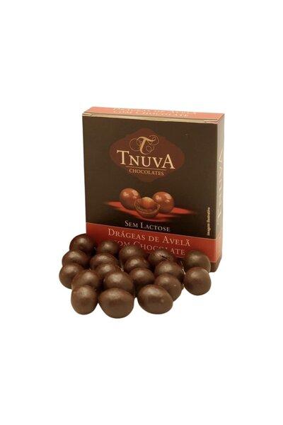 Chocolate Vegano Avelã Drageado Tnuva - 50g