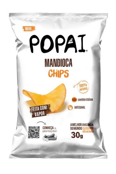 Chips de mandioca sabor original Popai - 30g *Feita com vapor