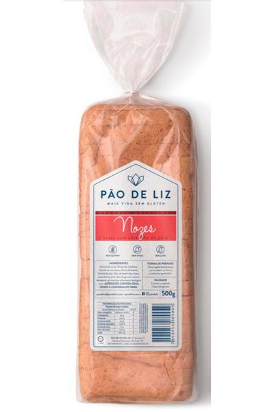 Pão sem glúten - nozes c/ castanha do pará - pão de liz - 500g